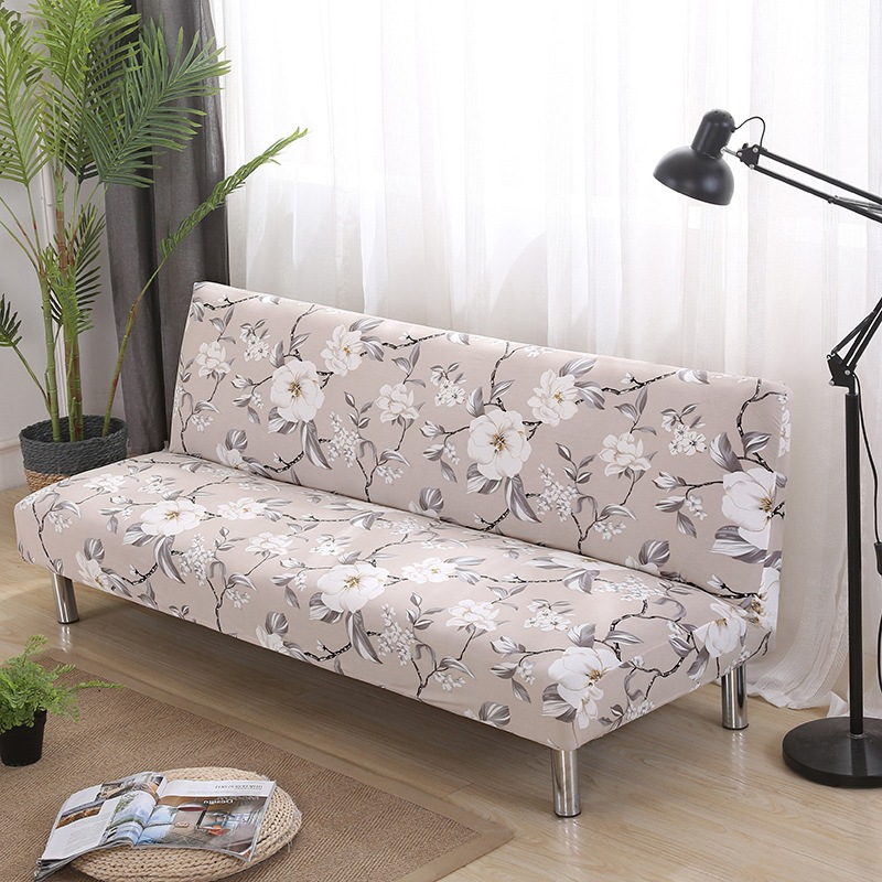 Universal Size Armless Sofa Bed Cover Folding Seat