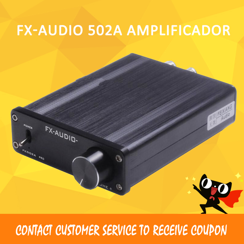 Fx-Audio 502A amplifier audio hifi mini amplifier 2.1 50W x 2 Power Amplifier amplificador mje15032g mje15033g to220 8a 250v 50w power transistors complementary audio amplifier 5pcs mje15032 5pcs mje15033