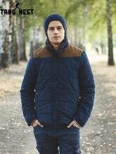 TANGNEST/2019 Лидер продаж мужская мода повседневное зимняя верхняя одежда пальто удобная куртка два цвета плюс размеры XXXL оптовая продажа MWM169