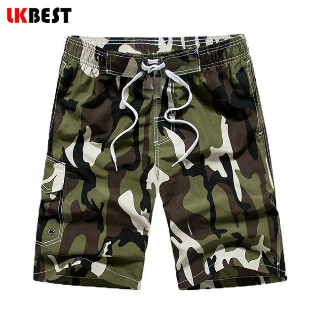 LKBEST New Summer Beach Men Shorts Casual Mens Board Shorts Camouflage Designer men swimwear shorts plus size M-5XL  N1706