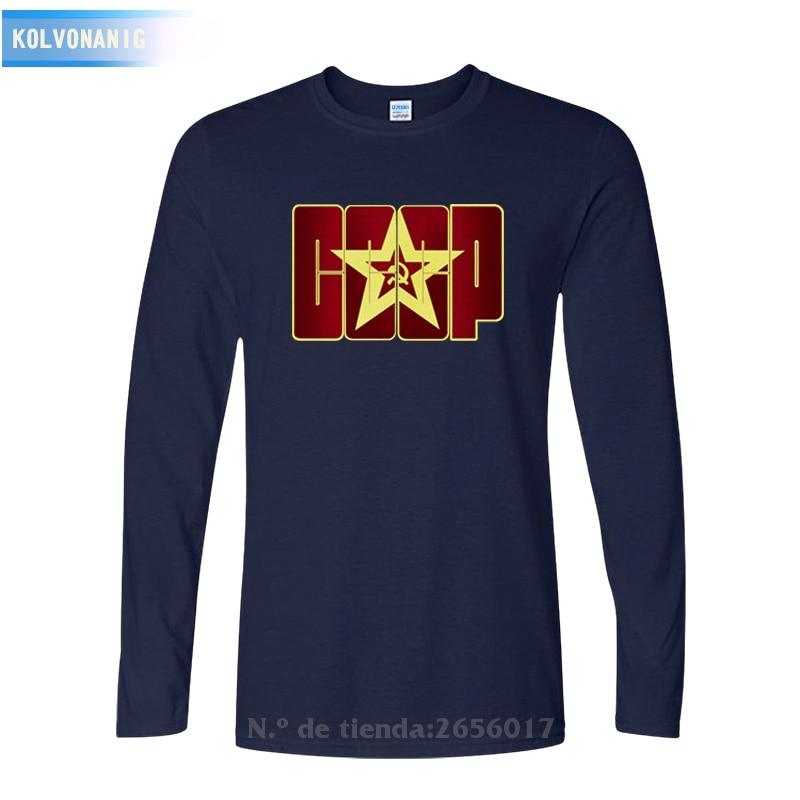 KOLVONANIG 2019 Fall Dress CCCP Russians USSR Soviet 3D Printed T Shirts Man Long sleeve T shirt Men 39 s Cotton O Neck Tops Tee in T Shirts from Men 39 s Clothing
