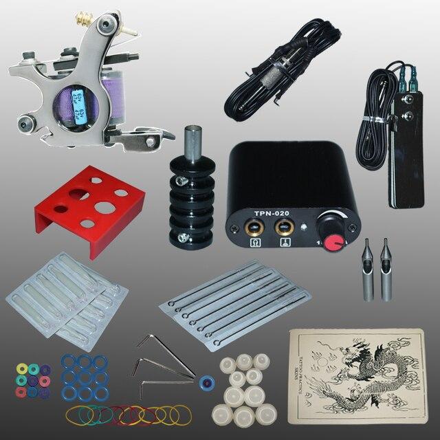 New Arrival 1 set Tattoo Kit Power Supply Gun Complete Set Equipment Machine Wholesale 1100713litA