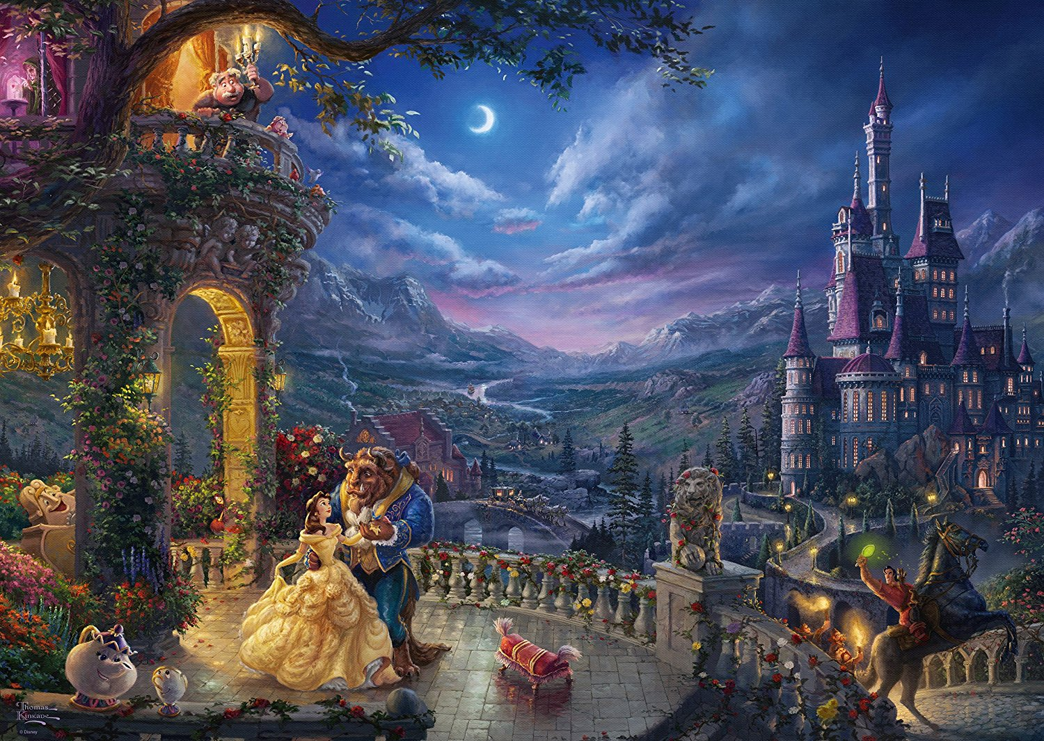 Beauty and The Beast 1000 Pieces of German Jigsaw Puzzle