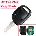 Бесплатная доставка 1 кнопка дистанционного Ключа pcf7946 чип 433 МГц с NE73 лезвие для Renault (1 шт.)