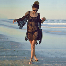 2017 New Women Summer Swimsuit Beachwear Bikini Beach Cover ups Vestidos Swimwears Floral Sexy Lace Crochet Mini Tunic Dress
