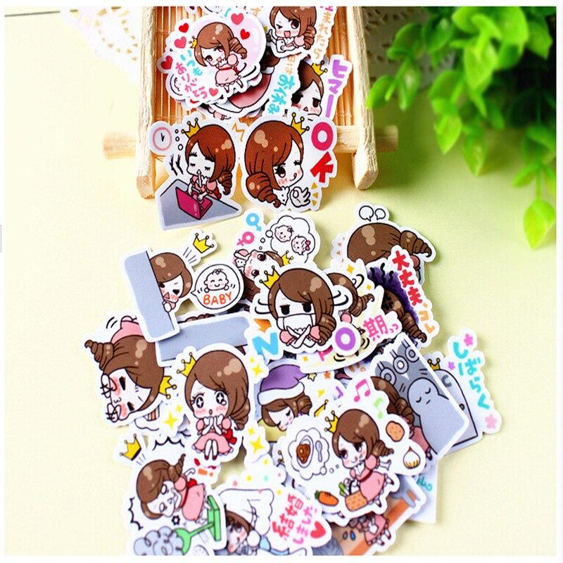 40pcs Creative cute Self-made Cute pregnancy mother / woman scrapbooking stickers /decorative sticker /DIY craft photo albums