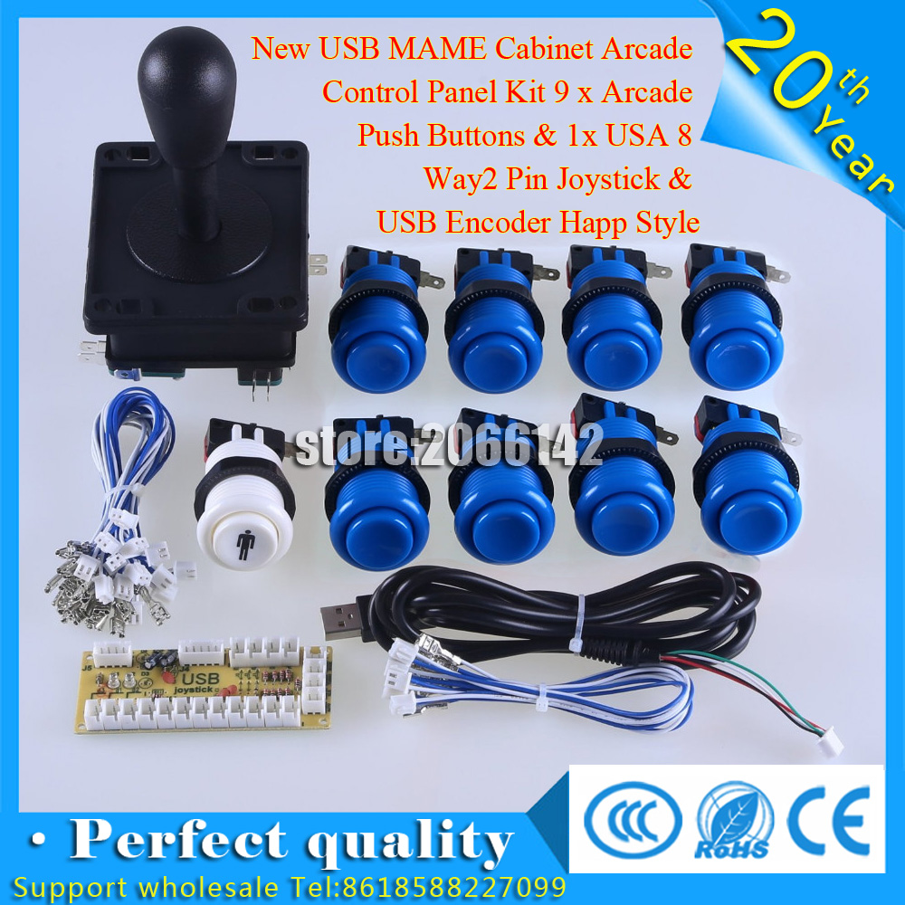 X Arcade Wiring Diagram For Usb Electrical Diagrams 2 Pin New Mame Cabinet Control Panel Kit 9 Push Otg Cable