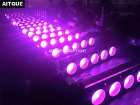 12pcs/lot Disco Dj Stage led cob blinder 5x30w matrix light blinder dmx rgb cob matrix projector warm Light