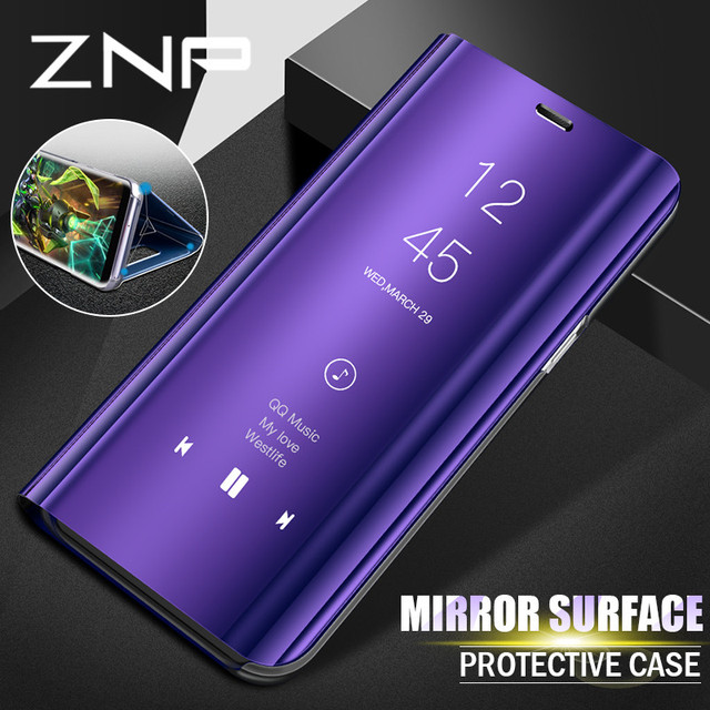 znp luxury flip stand smart view case for samsung galaxy s9 s8 plus s9 phone cover for samsung. Black Bedroom Furniture Sets. Home Design Ideas