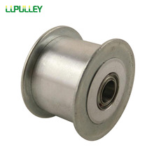 LUPULLEY Idler Belt Pulley 5M 25Teeth Bore 5/6/7/8/10/12/15mm 5M Tension Pulley With Bearing No Teeth Synchronous Idler Wheel
