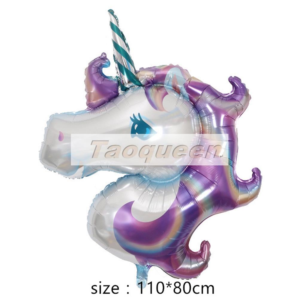 45-110 см гигантский Единорог воздушные шары вечерние принадлежности День Рождения украшения радужные шары Детские фольгированные шары мультяшная шляпа - Цвет: 3
