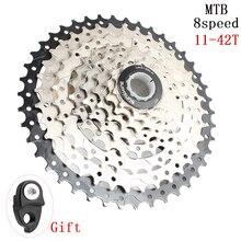 SUNSHINE-SZ MTB Bike Freewheel 8S 11-42T MTB Mountain Bike Flywheel 8 24 Speed Cassette Sprocket For Shimano Sram