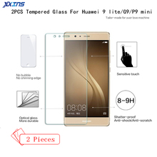 2PCS/lot High definition Tempered Glass For Huawei P9 lite smartphone Mobile Phone Screen Protector Film For P9mini G9 цена
