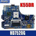 Материнская плата Amazoon для Asus K55DR K55DE с дискретной видеокартой HD7520G