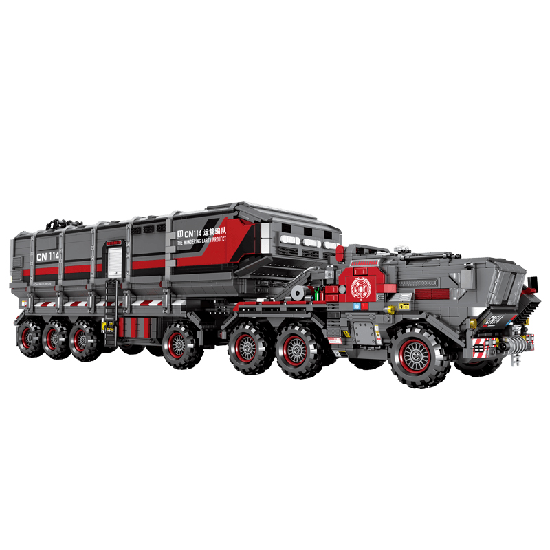 Technic ภาพยนตร์ The Wandering Earth 3712pcs CN171 11 Cargotruck รถบรรทุกขนส่ง 11 ตัวเลขอิฐบล็อกอาคารใช้งานร่วมกับชุด-ใน บล็อก จาก ของเล่นและงานอดิเรก บน   2
