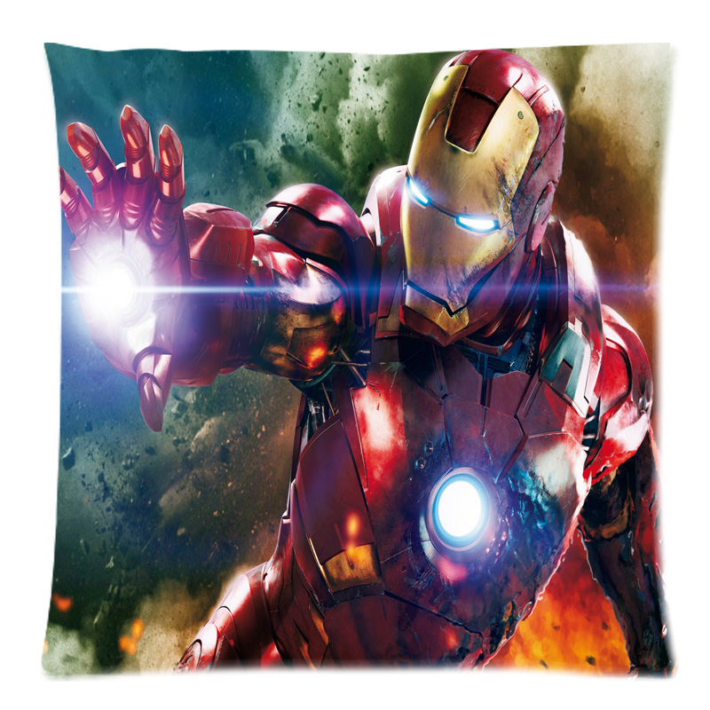 Customized Sofa Cushion Cover Iron Man Throw Pillow Case
