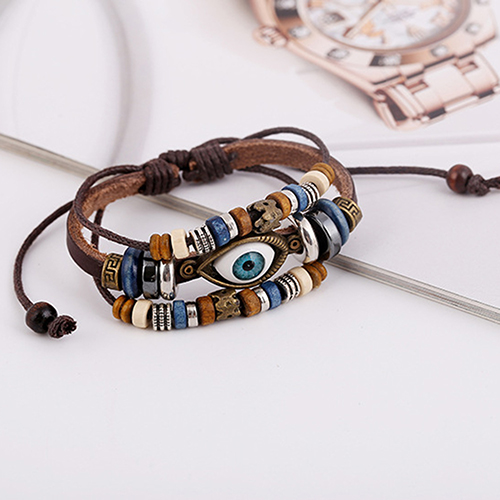 Leather Adjustable Bracelet 4