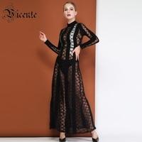 Бесплатная доставка! Модные длинные Платье черного цвета в полоску с пикантные плед сетки Дизайн Оптовая знаменитости вечерние Для женщин