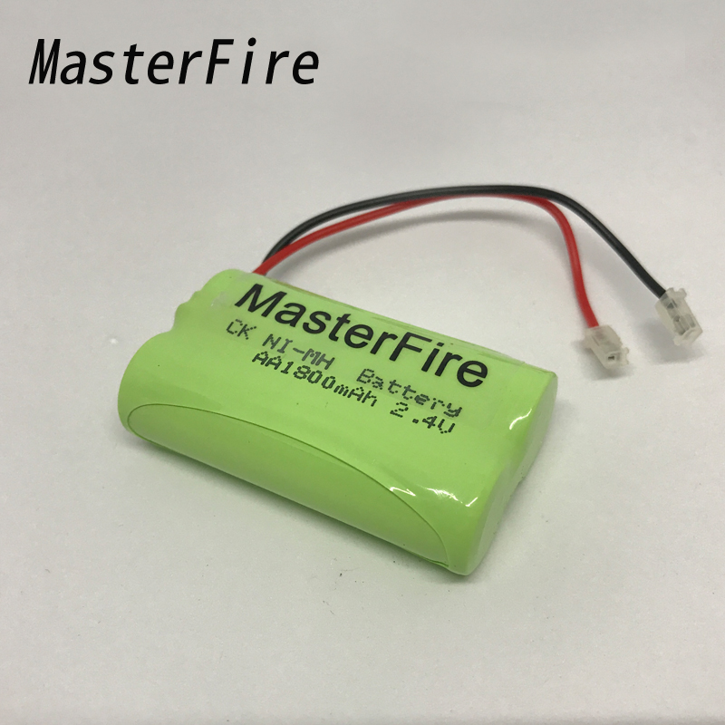 MasterFire 6PACK/LOT Brand New Ni-MH AA 2.4V 1800mAh Ni MH Cordless Phone Battery Rechargeable Batteries Pack With Plugs