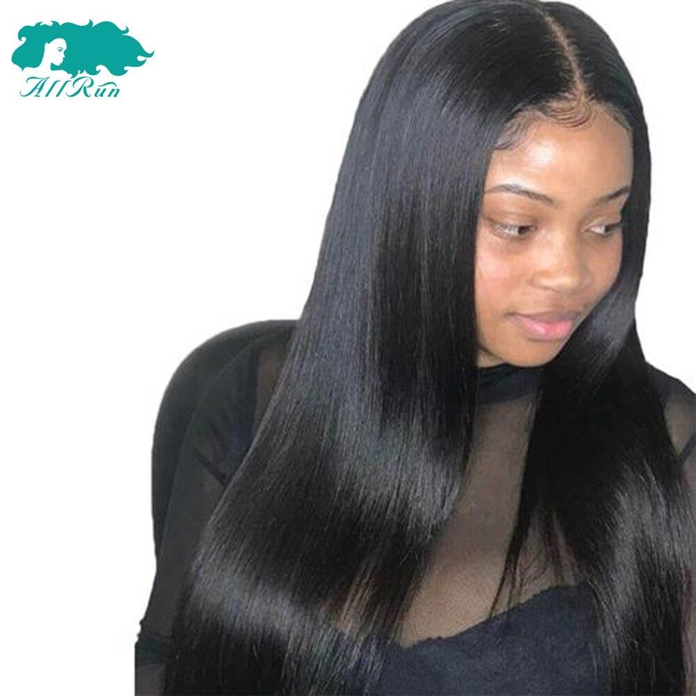 AllRun бразильский Синтетические волосы на кружеве человеческих волос парики для Для женщин не Волосы remy прямые Синтетические волосы на круже...