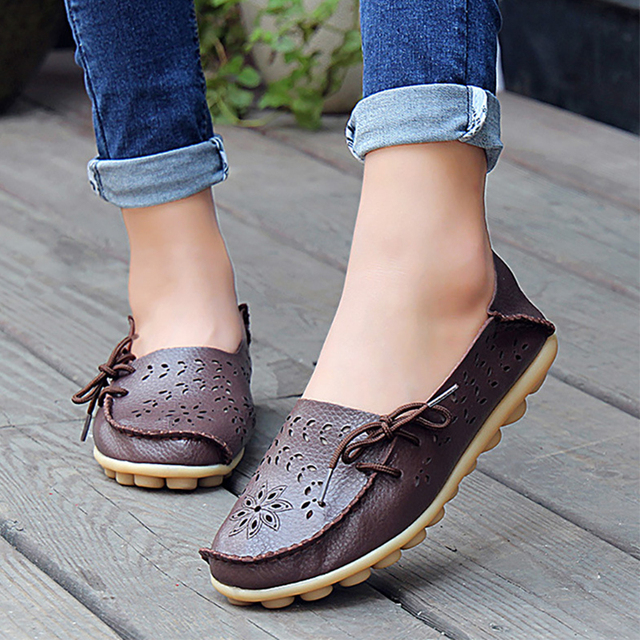 Spring women flats hollow out comfortable loafers women shoes female casual shoes chaussure femme Slip on Ballet Flats DDT679