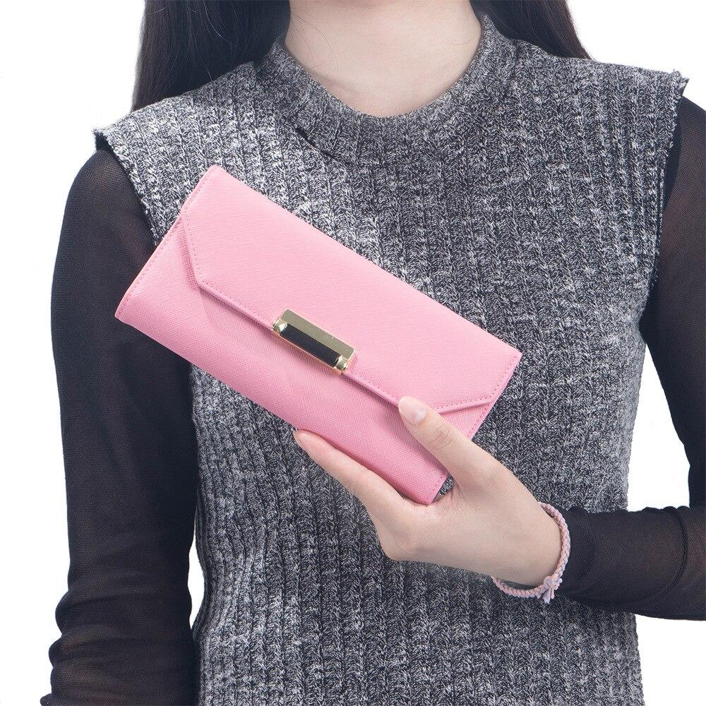ФОТО luxury Vintage Real Cow Leather Women Long Wallets Purse lovly Cross Grain Brand Wallet Women Card Holder Phone Clutch Wallets