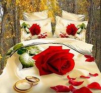WARMTOUR Романтический Стиль яркий Любовь Роза 4 шт. постельного белья 6 Размеры могут быть доступны queen/Twin/полный /King Размеры