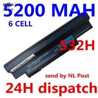 5200MAH 6cells Laptop Battery FOR ACER Aspire One AO533 KK3G AO533 WW3G EMachines 350 350 21G16i