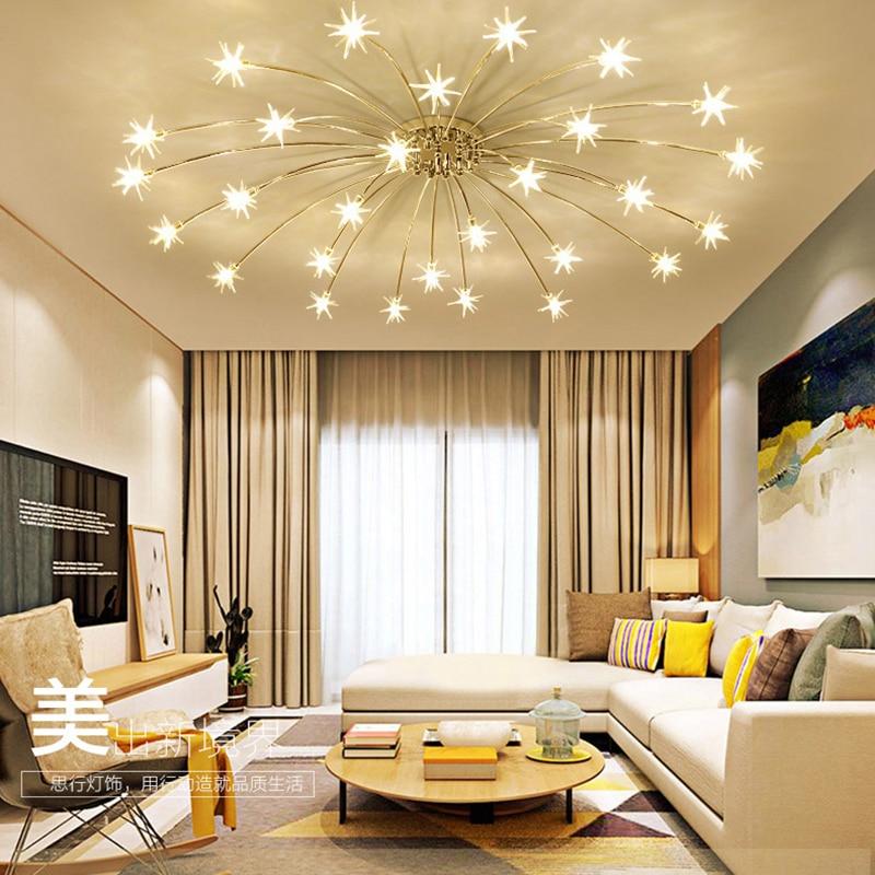 Необычная люстра потолок Спальня Гостиная современный осветительное оборудование G4 Star потолочных светильников блеск светодио дный для де...