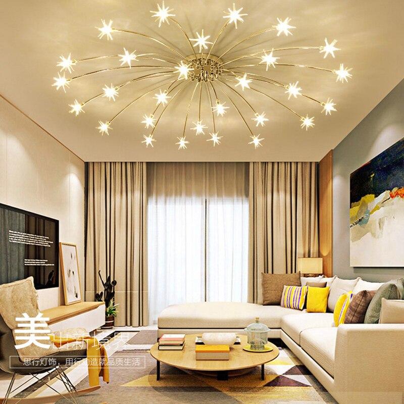 Creative Lustre Au Plafond Chambre Salon Moderne Luminaire G4 Étoiles Plafond Luminaires lustre LED Pour Les Enfants Chambre