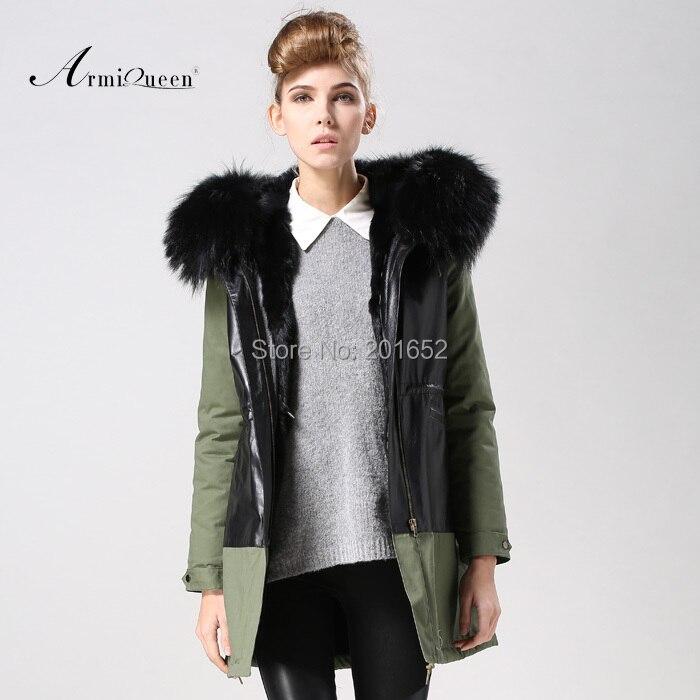 2014 New Winter Autumn Women Elegant Faux Leather Grass Coats fur lined parka Faux fur jacket Womens Fashion Long Coat