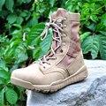 Nova Ultraleve Homens Botas Sapatos Tornozelo Botas de Combate Tático Militar Do Exército Para Os Homens Do Deserto/Selva Botas Sapatos Ao Ar Livre Tamanho 36-47