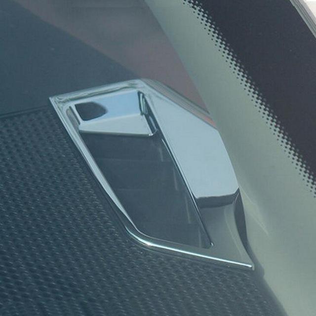 2 Pcs BRICOLAGE Car Styling ABS Chrome Tableau de Bord petit air évents de Cas de Couverture autocollant Autocollants pour Peugeot 301 2014 et Citroen C3-XR