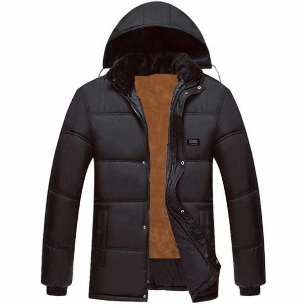 Autumn winter men fashion warm jacket men's warm soft overcoat man outwear clothes male coats L XL XXL XXXL