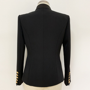 Image 3 - Veste de haute qualité avec col en Satin et bouton simple de styliste pour femmes, veste 2020