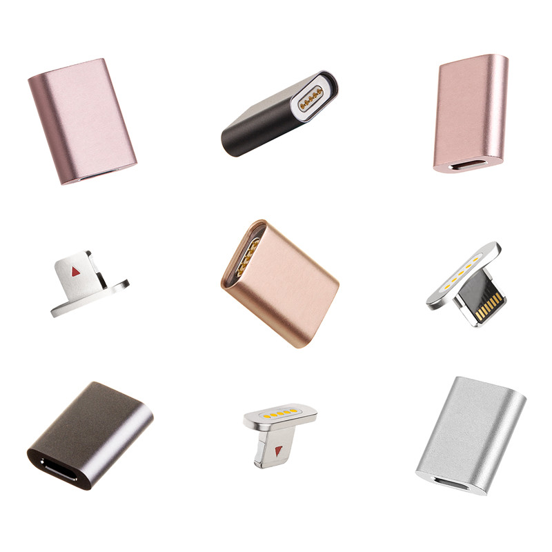 Mobile Phone Micro USB Magnetic Adapter For iPhone 5 6 6S 7 Plus Charging Cable Adapter For iPhone Lightning VHH82 P18 0.15