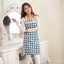 Japanese Cotton Aprons Cooking Apron Kit Bib Ocean Style Stripe Tree Housework Kitchen Sleeveless Aprons For Women And Men