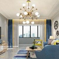 Modern Fashion Loft Art Dandelion Chandelier Creative Gold Warm Bedroom Dinner Living Room Cafe G4 Led Hanging Light Fixtures