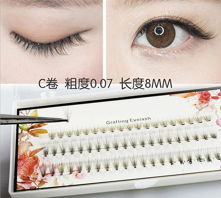 d3f40d7d93e 1pcs Volume 10D Eyelash Extensions 0.07 Thickness Hair Mink Strip Eyelashes  Individual Lashes Fans Lash Natural Style 8/10/12mm-in False Eyelashes from  ...
