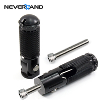 New CNC Universal Motorcycle Bike Folding Footrests Foot Rests Pegs Rear Pedals Set Silver Gold Black Wholesale C10