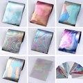 12 Цветов/комплект Звездное Небо Ногтей Фольга Ногтей Наклейки Многоцветный 4*16 см DIY Маникюр Nail Art Передача наклейки Для Ногтей Украшения