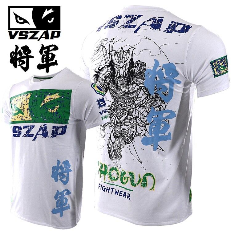 VSZAP  Fight Thai Boxing Fight Shogun Short Sleeve T Shirt General MMA Fitness Martial Arts Warrior Training Man