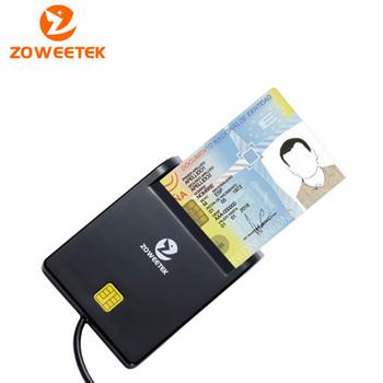 Oryginalny Zoweetek 12026-1 nowy produkt dla USB EMV czytnik kart inteligentnych dla ISO 7816 EMV czytnik kart chipowych tanie i dobre opinie Pojedyncze Zewnętrzny Karta sd Karty sm C292 SIM ATM IC ID Card Black Smart Card Reader Easy Comm USB Card Reader IC ID card Reader