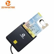 Zoweetek lector de tarjetas inteligentes, dispositivo para leer tarjetas inteligentes con Chip ISO 12026 EMV, Genuine 7816