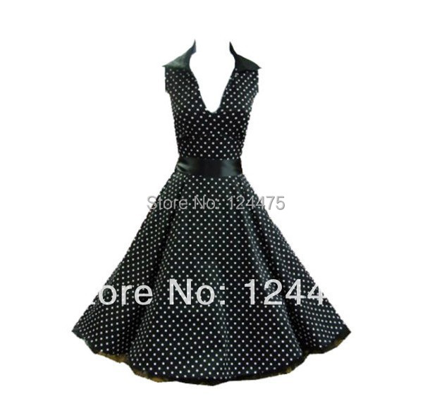 US $49.99 |2014 new spring summer red&black dot swing dress best sales  rockabilly plus size pin up dress navy style multi colors-in Dresses from  ...