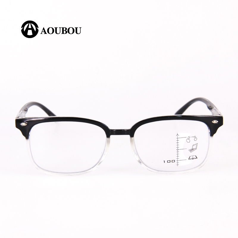 Image 3 - AOUBOU High Quality Unisex Progressive Multifocal Lens Reading Glasses Men Women Presbyopia Hyperopia Bifocal Eyeglasses A010-in Women's Reading Glasses from Apparel Accessories