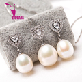 ZJPEARL 100% genuine freshwater pearl jewelry 925 silver pearl necklace and earrings for women white top quality