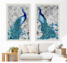 5D diamond embroidery diy diamond Painting peacock pictures diamond mosaic Christmas gift diamond picture home decor fas