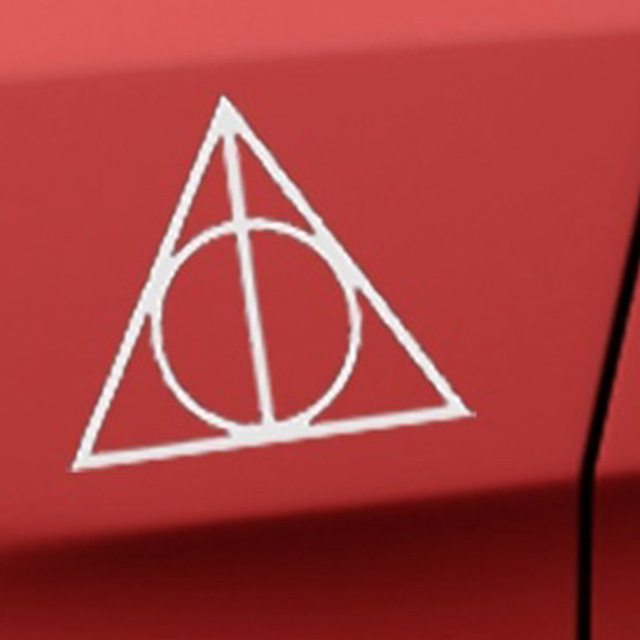 Driehoek Cirkel Logo Relieken Auto Sticker Voor Camper Minicab