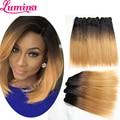 "Fashion 10 "" 12 "" 1b 27 Short Ombre Brazilian Straight Hair Extension 3 Bundles Bob Human Hair Weave 2tone Blonde Remy Hair Weft"